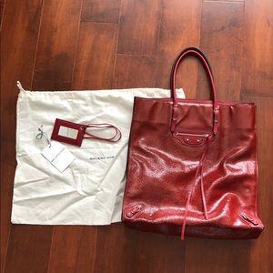 Balenciaga crinkled leather tote